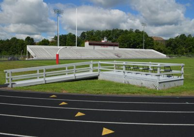 Home-side Bleachers and Handicap Seating