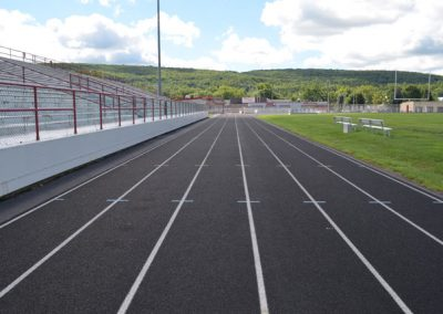 East side track straight-away