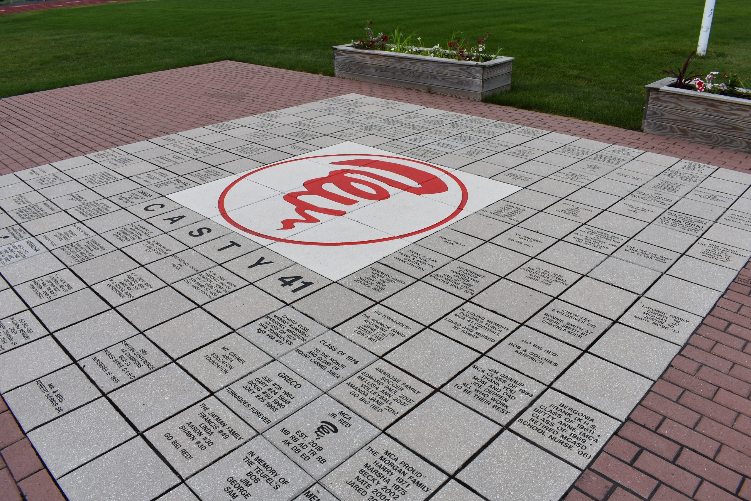 Proposed center display of bricks at Silver Bowl South End Zone