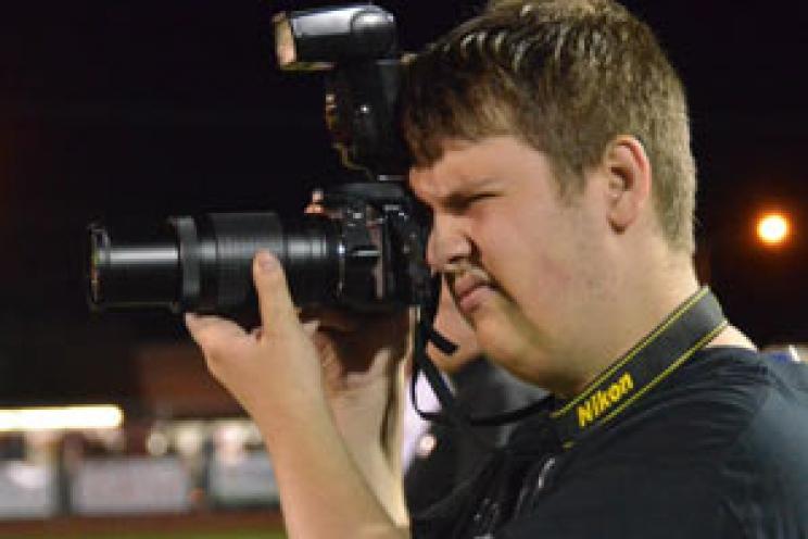 Photographer at MCA Football Game